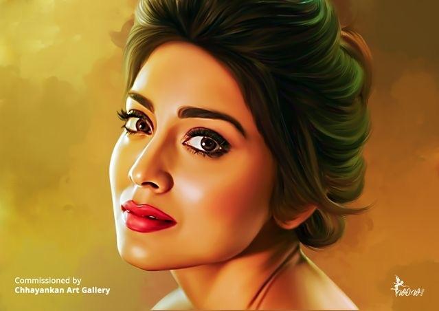 Shriya Saran by CHHAYANKANArts